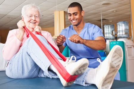 Physical therapy assistant treating